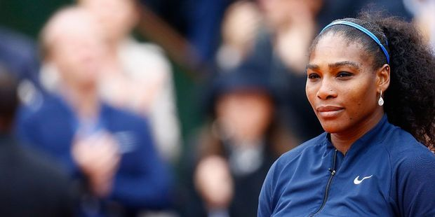 Serena Williams after her defeat during the French Open Ladies Singles final match. Photo / Getty Images