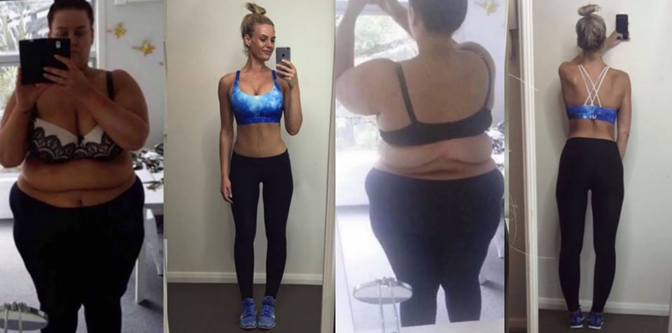 Simone shares photos of her amazing transformation. Photo / Facebook