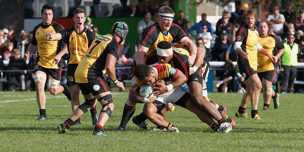 Tevita Taufui from Waikato during the Ranfurly Shield match between Waikato and Thames Valley on June 6, 2016 in Paeroa, New Zealand. Photo / Getty Images