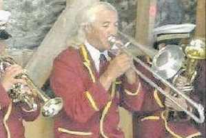 A Hamuera Moreu Ratana Band practice, with its trombone. The prized instrument was stolen from the home of a band member in Bay View on Friday.