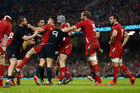 A scuffle breaks out during between Wales and the All Blacks at the Millennium Stadium in November 2014. Photo / Getty Images