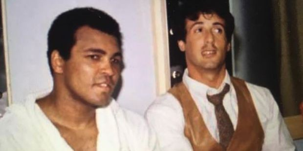 Sylvester Stallone paid tribute to Muhammad Ali. by sharing a number of old pictures of himself with the sporting legend on Instagram. Photo / Officialslystallone Instagram
