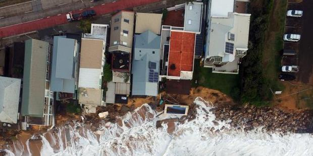 Loading An aerial view of the coastline washed away at Collaroy. Photo / UNSW Water Research Laboratory