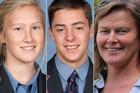 Sadie Stewart, Jamie Wearmouth and Susanna Stewart died on Monday night near Dargaville. Photos / Supplied