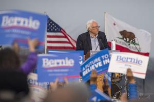 Senator Bernie Sanders in San Francisco, California. Photo / Bloomberg
