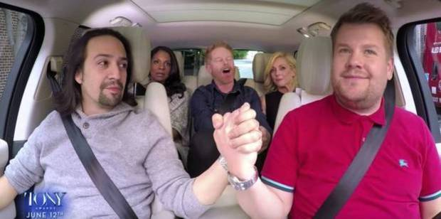 Four new faces will fill James Corden's SUV next week.