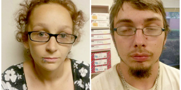 Ashley Nicole Harmon and Jonathan Isaac Lucas Flint. Photo / Fayette County Sheriff's Department