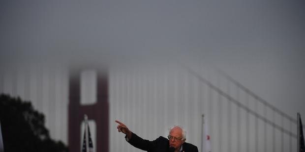 Democratic presidential candidate Bernie Sanders. Photo / Washington Post