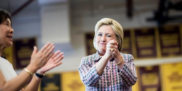 Democratic presidential candidate Hillary Clinton. Photo / Washington Post
