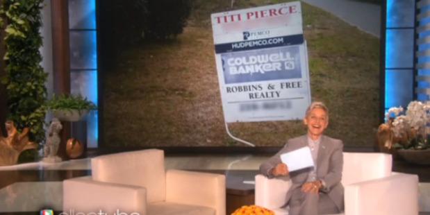 "Titi Pierce's name featured on a popular Ellen segment, which caused ""immediate ridicule"". Photo / Youtube"