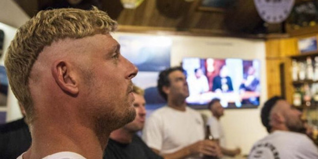 Surfer Mick Fanning with his new haircut. Photo / Instagram