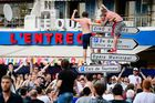 England supporters climb on street signs in Marseille, southern France, on June 10, 2016, on the eve of England's Euro 2016 football match against Russia. Photo / LEON NEAL/AFP/Getty Images
