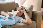 My boyfriend is completely immobilised when he comes down with the man-flu. Photo / iStock