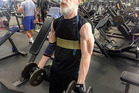 Fitness fanatic JK Simmons is seen working out in a photo taken by his personal trainer. Photo/Instagram