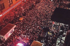 Crowds of up to 4000 gather on the streets outside the venue where Kanye West had announced a surprise gig. Photo/Instagram