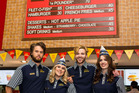 McDonald's staff dressed in original uniforms are ready to serve up the 1970s menu. Photo / Supplied