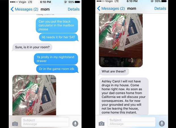 The hilarious exchange begins between mother and daughter. Photo / Twitter.com via @acbanks3