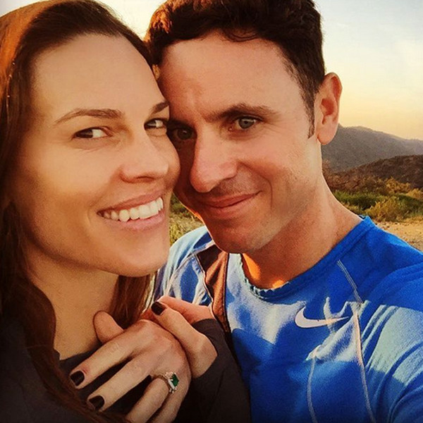 Hillary Swank Ruben Torres announcing their engagement. Photo / Hilary Swank Instagram