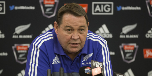 Loading All Blacks coach Steve Hansen after naming his first team of 2016. Photo / Brett Phibbs