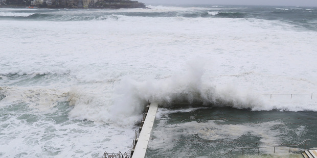 A king tide hits Bondi Icebergs in Sydney, Australia. Photo / Getty Images