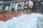Source: Facebook/news.com.au  Residents of storm-struck Collaroy remain on edge, bracing to be hit by another monster high tide as they watch their homes slowly crumble into the sea.