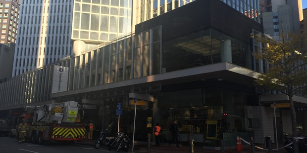 Fire services were called out to Grant Thornton building on Lambton Quay. Photo / Solbin Kang