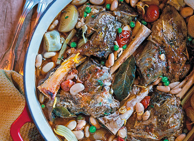 Lamb and white bean cassoulet. Photo / Annabel Langbein Media