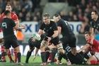 New Zealand All Black Flanker Sam Cane . Photo Greg Bowker