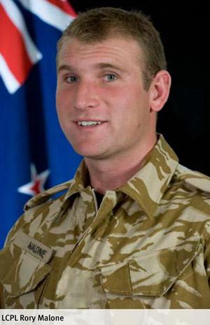 Rory Malone. Photo / NZDF