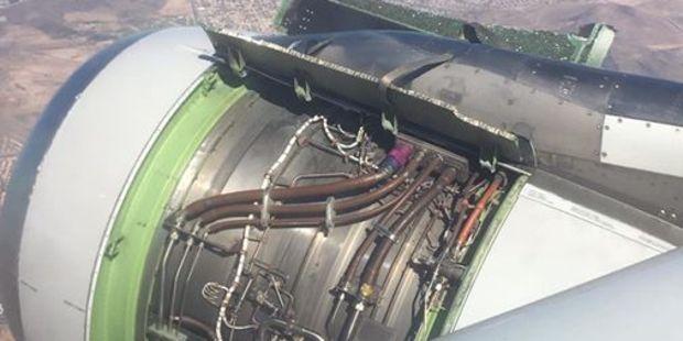 The engine incident happened at Phoenix Sky Harbor Airport in Arizona. Photo / Facebook, Ken Papagno