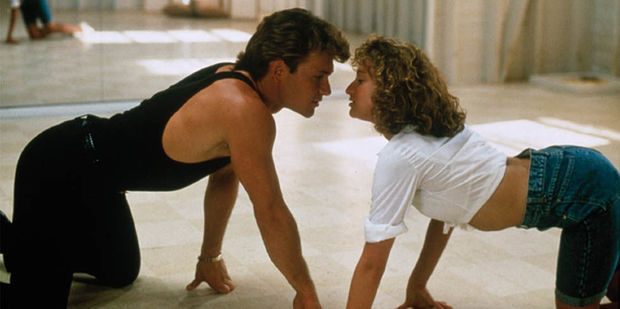 Patrick Swayze, and Jennifer Grey in Dirty Dancing, 1987.