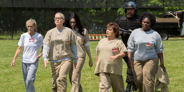 A scene from season four of Orange Is The New Black. Photo / Netflix