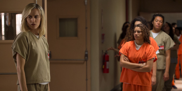 A scene from the TV show Orange Is The New Black. Photo / Netflix