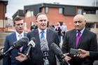 Rt Hon John Key Prime minister with Hon Michael Woodhouse MP and Hon Peseta Sam Lotu-Iiga MP at the opening of upgraded Mangere Refugee Resettlement Centre. Photo / Michael Craig