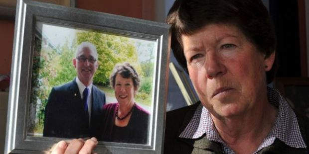 Needless heartache. Jean Hamilton lost her husband, Maurice, to mesothelioma, but the pain caused by asbestos is set to continue across New Zealand. Photo / ODT