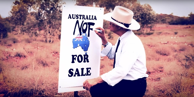 Katter says Australia is not for sale.