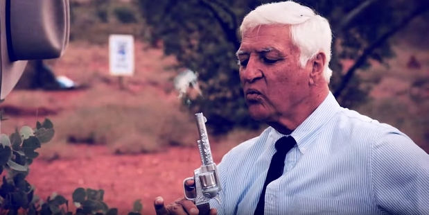 Bob Katter's campaign video seeks to portray him as a politician ready to fight for Australians.