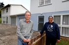 Tai Tokerau emergency housing chairman Adrian Whale and operations manager Ange Tepania outside the new three-bedroom emergency housing property the trust is opening in Morningside this week. Photo / John Stone