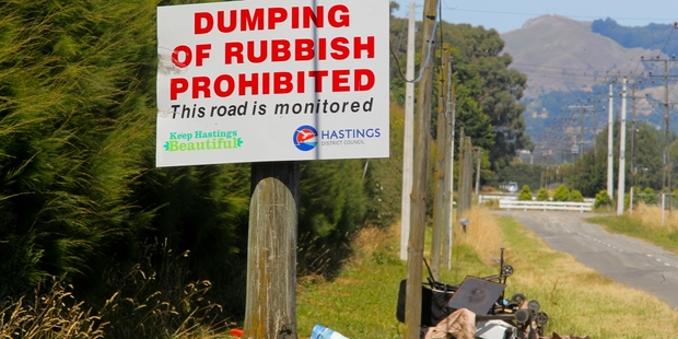 Illegal rubbish dumping is a problem vexing staff across all local councils in Hawke's Bay.