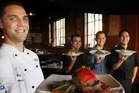 NEW TEAM: From left, Phil Healy, Turgut Bayat, Pete Ellicott and Hayz Tiraha from Stellar Restaurant and Bar.