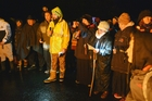 DAWN CEREMONY: Peter Wikohika leads Puanga karakia at the base of Mt Ruapehu.PHOTO/ SUPPLIED