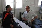 GLOBAL CITIZEN: Andrew Little, seen at Za'atari refugee camp in Jordan, wants to double NZ's refugee quota. PHOTO/FILE