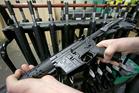 A newly assembled AR-15 rifle. Photo / AP