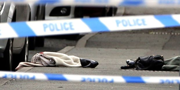A jacket, handbag and shoes were left at the scene. They are believed to belong to Ms Cox. Photo / AP