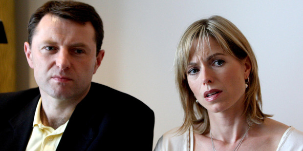 Gerry and Kate McCann, the parents of Madeleine McCann. Photo / AP