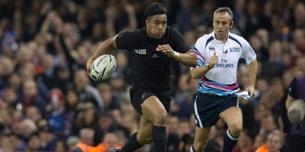 Loading Julian Savea in action for the All Blacks in last year's Rugby World Cup. Photo / Brett Phibbs