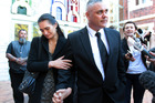 Pictured are Mona Dudley and Brent Dudley leaving Auckland High Court. Photo / File