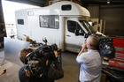 Camper van where the record amount of meth was found. Photo / Michael Cunningham