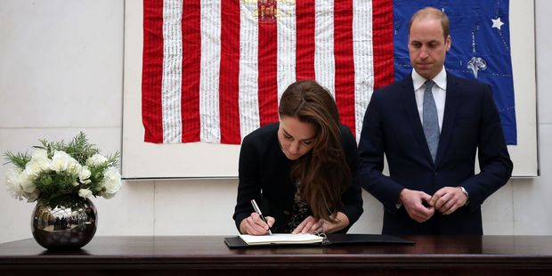 William's plans were announced as he and wife, Kate, the Duchess of Cambridge, signed a book of condolences for the victims of the Orlando nightclub shooting. Photo / AP