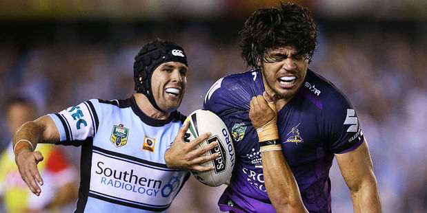 The Cronulla Sharks and Melbourne Storm are six points clear at the top of the NRL table. Photo / Getty Images